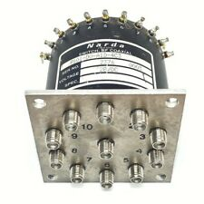 SP10T SMA DC-18GHZ COAXIAL SWITCH NARDA 9101-D0-A1D-4C3
