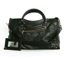 Novo Balenciaga Giant 12 Black Gold Hardware Agneau Lambskin City Bag 281770