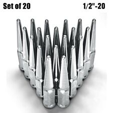 "Chrome 4.5"" Long Spike Lug Nuts 1/2""-20 RHT Fit Chevy C10 Astro G10 Blazer 5CH1"