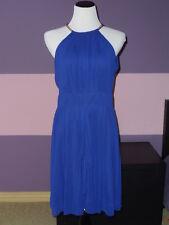 NWOT Eliza J Short Cocktail Dress with Golden Necklace SZ 10 Blue