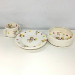 Australian Made 1995 Pottery Children's Dinner Set - Bowl, Plate & Cup #546