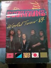 Scorpions Love At First Sting 1984 StPete Fl Concert Tour Program Used See Pics.