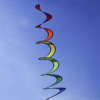 Rainbow Kite Tail Windsock Wind Spinner Garden Decor Kids Line Laundry Outdoor