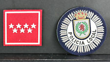 Two Obsolete Policia Local Shoulder Patches