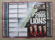 British Lions Tour to New Zealand, 2005 - Wall Chart (Western Mail).