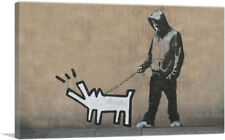 ARTCANVAS Choose Your Weapon Keith Haring Dog Canvas Art Print by Banksy