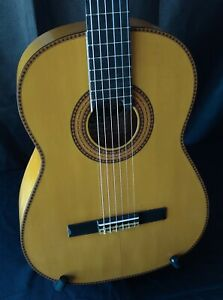 1968 Miguel Company Signed 1A Cypress and Spruce Flamenco Guitar