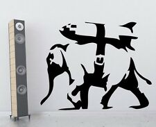 VINILO DECORATIVO PARED SALÓN DECORACIÓN LONDON BANKSY ELEPHANT DECAL STICKER