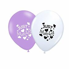 "Just Married 10"" Wedding Latex Party Decor Balloons Assorted pack of 100"
