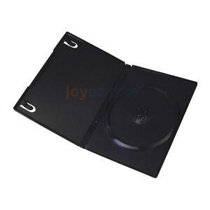 100 Standard 14mm Single CD DVD Black Movie Case Box