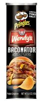 Pringles Wendy's Baconator Flavored Potato Crisps 5.5 oz Can Limited Time Flavor
