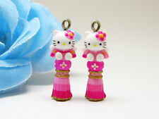 10 Hello Kitty Pendant Charm Figurine *10 pieces* Gifts (10r-10) Wholesale