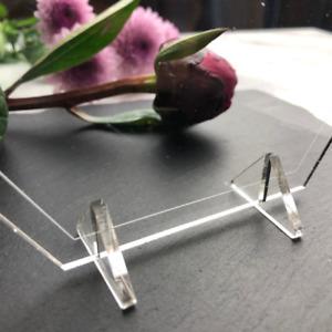 Acrylic Stands, Acrylic Feet, Acrylic holders, Perspex 3mm acrylic feet, bases