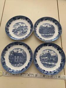 "Old English Staffordshire Ware Dish 4"" Jonroth Strawberry Banke Portsmouth NH"