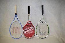 Lot of 3 Tennis Racquets, Head Ti Reward, Wilson Triumph Wilson T3000