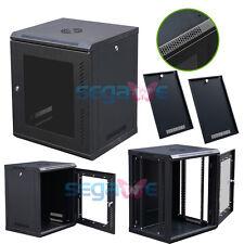 Cabinet Box Enclosure Rack Glass  Durable12U Wall Mount Network Server Data