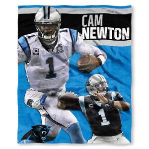 Cam Newton Carolina Panthers  NFL Northwest Silk Touch Throw 50 x 60