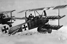 New 5x7 Photo: Red Baron Manfred von Richthofen with his Fokker Dr.I Triplane