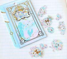 Kawaii Stickers Sack 36 translucent sticker flakes gold Mermaid Ocean A