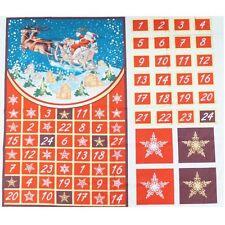 Venta Santa Trineo Renos Calendario de Adviento Navidad Panel 100% Tela De Algodón
