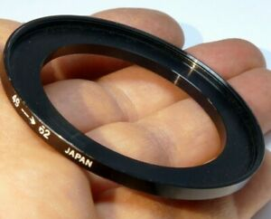 49mm to 62mm Step-up ring Metal adapter double threaded for lens filter