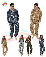 Mens Ladies unisex jumpsuit bodysuit aztec camouflage onsie lot all in one piece