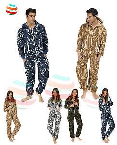 New Mens Ladies unisex jumpsuit aztec camouflage bodysuit onsie1 one piece