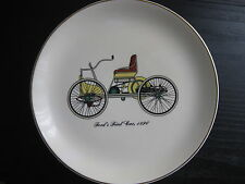 vintage FORD'S FIRST CAR 1896 23K GOLD PLATED PLATE,#59 U GOOD CONDITION