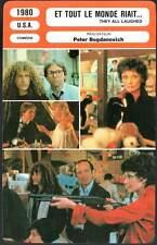 ET TOUT LE MONDE RIAIT - Hepburn,Gazzara (Fiche Cinéma) 1980 - They All Laughed