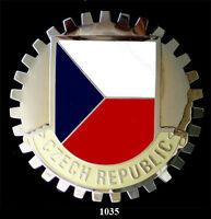 CAR GRILLE EMBLEM BADGES - CZECHOSLOVAKIA(FLAG)