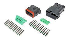 Deutsch DT 12 Pin  Black Connector Kit 14 GA Solid Contacts