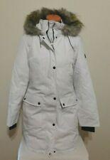 Marc New York  Coat With Faux Fur Trim Hood White MEDIUM NEW