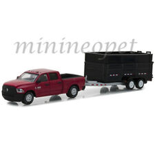 GREENLIGHT 32140 D 2017 DODGE RAM PICK UP TRUCK with DUMP TRAILER 1/64 RED