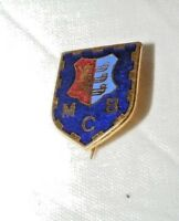 VINTAGE ENAMEL MCB  BOWLING? CLUB BROOCH / BADGE / PIN