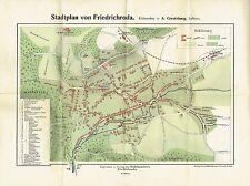 Creutzburg Stadtplan von Friedrichroda um 1910 Thüringen