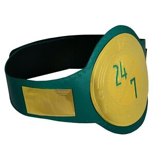SH WWE 24/7 Champion Wrestling Belt Replica Gold Plated Green Leather Adult 2mm