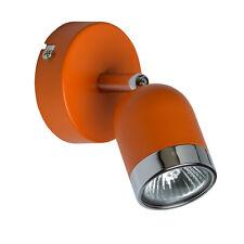 Applique murale spot à une lampe réglable de style moderne en métal orange