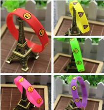 5PCS Silicone Emoji Emotion Wristband Bracelets Funny Party Supplies Popular