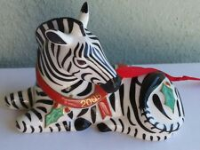 Collectable 2005 Designed by Lynn Chase Zebra christmas Ornament.