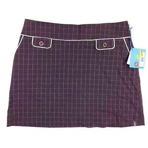 NWT Vtg 90s Lija Women's Size 16 Mauve Plaid Golf/Tennis Skirt Skort