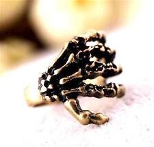 Vintage punk biker antique style bronze claw charm ring