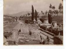 Albumen Italy 5066 Strada dei Sepolcri Sepulchre Road Pompei Edizioni Brogi
