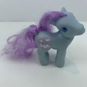 My Little Pony Genuine Hasbro 2002 MLP G3 Fair Weather Blue Body Purple Hair