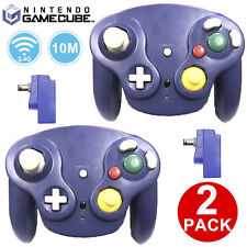 2Pcs 2.4GHz Gamecube NGC Wavebird Style Wireless Remote Controller with Receiver