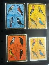 BURUNDI birds in blocks of 4 over 3 pages 1971 CTO