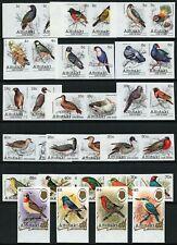 Aitutaki 1981 Vögel Freimarken Reiher Falke Möwe 370-405 U Imperf MNH / 313