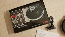 AEG Tragbarer CD Player MP3 CDP 4212 Discman kaum benutzt