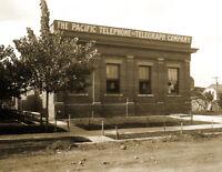 "1908 Pacific Telephone & Telegraph, Spokane, WA Vintage Photo 8.5"" x 11"" Reprint"