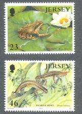 Amphibians-Jersey-Frog & Newts mnh-2001 issue