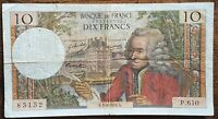 Billet 10 francs VOLTAIRE 3 - 9 - 1970 FRANCE P.610